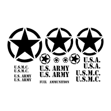 army jeep drawing amazon com military jeep restoration decal kit for u s army