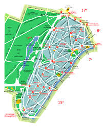 Map Paris France by Neighborhood Maps Of Paris France