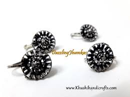 Buy Tribal German Silver Jhumka Buy German Silver Jewellery Jhumkas Nose Pins Anklets