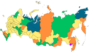 russia map after division federal subjects of russia