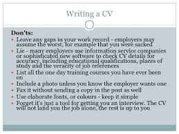 topic 5 do u0027s and don u0027ts in job application
