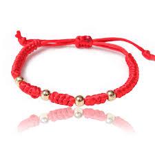cord macrame bracelet images Handcrafted luck knot pull cord macrame surf bracelet red string jpg