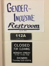 Gender Neutral Bathrooms - students angered over removal of gender neutral bathroom in baker hall