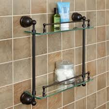 Glass Shelves For Bathrooms Bathroom Shelves Glass Wood And Marble Shelves Signature Hardware