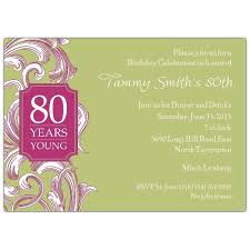 design exquisite 80th birthday invitations templates with hd
