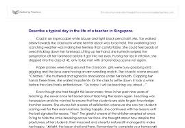 describe a typical day in the of a in singapore