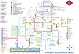 Metro Madrid Map by Contact Madridticketsinternational Com
