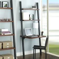 computer table leaning shelf bookcase with computer desk office