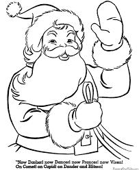 printable santa coloring pages free