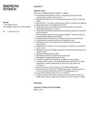 Buyer Resume Examples Assistant Buyer Resume Sample Velvet Jobs