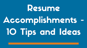Resume Accomplishments Examples by 10 Resume Accomplishments To Get You Noticed Examples Zipjob