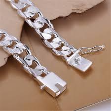 mens silver solid bracelet images Silver bracelets new list high quality women men noble solid jpg