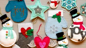 die cut felt ornaments