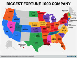 Usa Map By States biggest fortune 1000 company in every state business insider