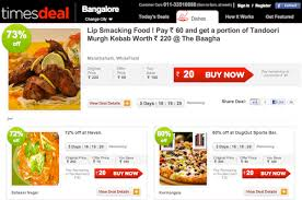 timesdeal offers deals on restaurant dishes medianama