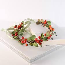 mistletoe headband berry flower crown mistletoe headband christmas wedding