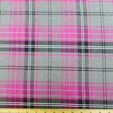 pink tartan tartan fabric ebay