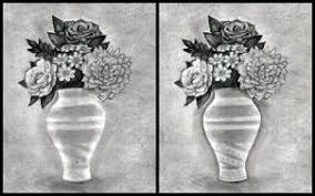 Pencil Sketch Of Flower Vase How To Draw Realistic Flowers Step By Step Realistic Drawing
