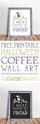 free printable halloween coffee wall art the cottage market