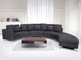 Curved Fabric Sofa by Curved Sectional Sofa Gray Fabric Rotunde