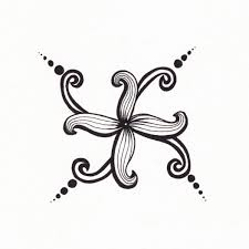 flower designs for drawing maybe like this curled up against a