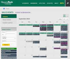 Slippery Rock University Map Slippery Rock Unveils New University Events Calendar Slippery