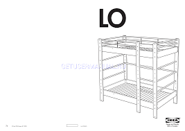 Ikea Wooden Loft Bed Instructions by Ikea Beds Lo Bunk Bed Frame Twin Assembly Instruction Download Free