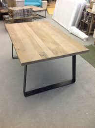 Industrial Dining Table Kitchen Table Wood And Steel Dining Table Metal Dining Table