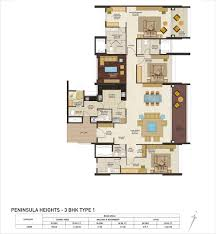 peninsula heights 4 bhk duplex apartments layout jp nagar bengaluru