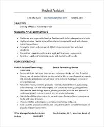 Medical Assistant Resume Template Free Objective For Medical Administrative Assistant Resume Resume