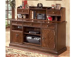 Tall Writing Desk by Hamlyn Office Credenza U0026 Tall Hutch H527 48 49