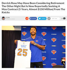 derrick rose has reportedly left the cavs and is evaluating his