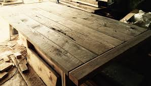 reclaimed wood table the coastal craftsman