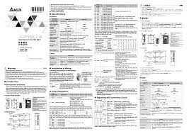 delta electronics network device dvp06ad s user manual 2 pages
