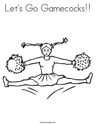 Gamecock Coloring Pages let s go gamecocks coloring page twisty noodle