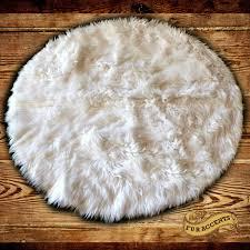 Faux Fur Sheepskin Rug Round Shag Rug Roselawnlutheran