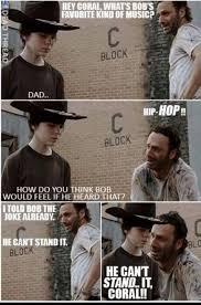 Carl Walking Dead Meme - the walking dead rick dad jokes google search walking dead