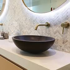 black stone bathroom sink adria stone basin black basalt abi bathrooms interiors