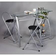 table en verre cuisine table de cuisine bar plateau en verre avec tabour achat vente