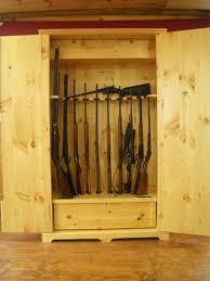 Plans For Gun Cabinet Hand Made Wooden Gun Storage Safe By Larue Woodworking