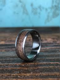 Mens Wedding Rings Black by Titanium Ring Wedding Ring Wood Ring Black Walnut Ring Wood
