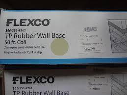 flexco tp rubber wall base almond 4