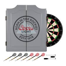 coors light gift ideas trademark 24 in coors light dartboard set cl7000 gry the home depot