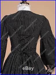 Civil War Halloween Costume Civil War Victorian Vintage Dress Gown Witch Ghost Women Halloween