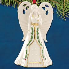 2017 lenox holiday angel bell porcelain ornament sterling