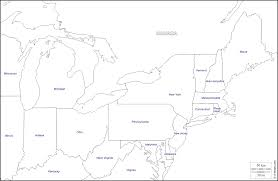 Map Of Usa States Blank Outline by North East Usa Free Map Free Blank Map Free Outline Map Free