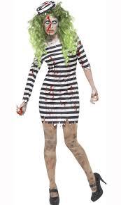 Prisoner Halloween Makeup by Women U0027s Zombie Convict Costume Prisoner Zombie Women U0027s Costume