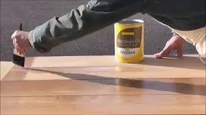 how to apply wax to a solid oak door or floor