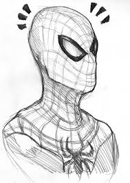 spiderman drawing pencil face
