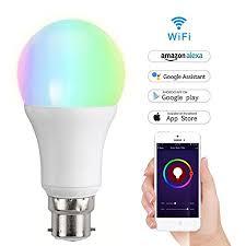 alexa controlled light bulbs smart bulb meamor light led dimmable 7w rgb bulb work with alexa
